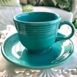 Turquoise Homer Laughlin Fiestaware Cup & Saucer